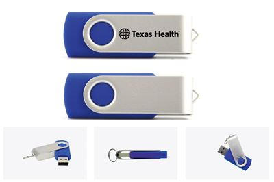 Texas Health Flash Drive  8GB - 32GB - Blue