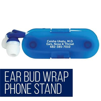 Ear Bud Wrap Phone Stand