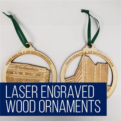 Laser Engraved Wood Ornaments