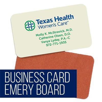 Business Card Emery Board